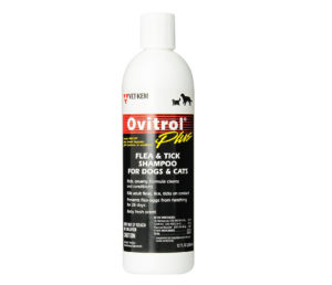 Ovitrol Plus Flea and Tick Shampoo for Pets