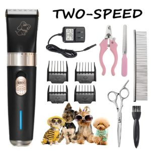 Focuspet Rechargeable Cordless Dog Grooming Clippers
